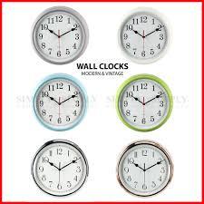 Retro Kitchen Wall Clocks Retro Vintage Wall Clock Clocks Large Modern Kitchen Silver Silent Non
