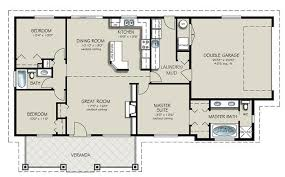 ranch style house plan 3 beds 2 baths 1493 sq ft 427 4
