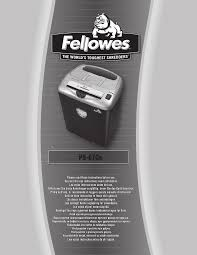 Fellowes Ps 67cs Shredder Red Light Ps 67cs Ps67cs Manual Eng Gb