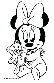 Plush Baby Minnie Mouse Coloring Pages Free Exotic Page U1144 Mickey