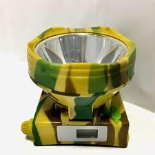 Đèn pin đội đầu mini họa tiết rằn ri ánh sáng vàng cam kết chất lượng - Đèn  sạc Nhãn hàng No brand