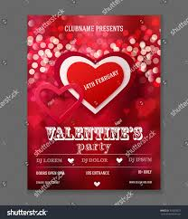bow street flyers valentines day party flyer design vector stock photo photo vector