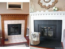 paint fireplace fireplace mini paint stone fireplace before after