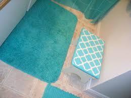 memory foam bath rug sets luxury super soft non slip mat pedestal set blue colour 3