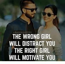 Distraction Quotes Simple ORADIK QUOTES THE WRONG GIRL WILL DISTRACT YOU THE RIGHT GIRL WILL