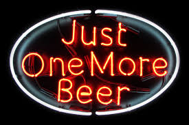 Personalized Light Up Bar Signs Just One More Beer Red Neon Light Up Bar Sign Custom Neon