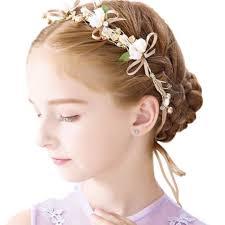 Amazon Eones髪飾り 子供 ヘアアクセサリー ヘッドドレス 花冠