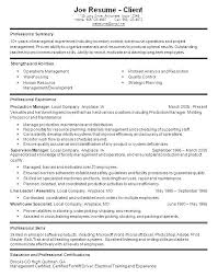 Machine Operator Resume Machine Operator Resume Manufacturing ...