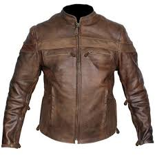 men s brown leather biker apparel