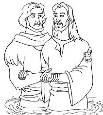 Jesus Baptism Coloring Page Design Kids Design Kids