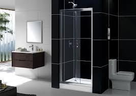 erfly bi fold frameless shower door