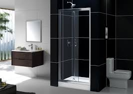 images of frameless bifold shower door