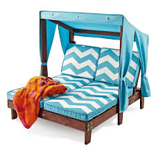 outdoor kid s double chaise lounge chair w canopy