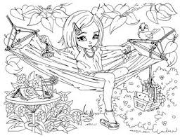 Free printable summer coloring pages. Printable Summer Time Girl Enjoy On Hammock Coloring Pages Printable Coloring Pages For Kids Cool Coloring Pages Coloring Pages For Girls Coloring Pages