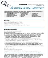 Sample resumes for medical assistant sample resumes for Medical resume  templates . Sample resume ...