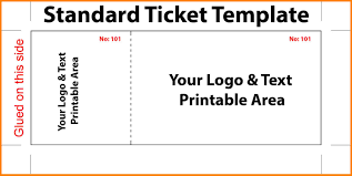 Event Ticket Template Word 7 Event Ticket Template Free Word Ismbauer