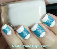 Nail Art Designs - Blue and White nail Art Designs
