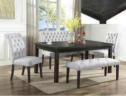 gray dining room table dark brown gray dining set by crown mark for in gray