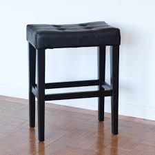 furniture awesome saddle bar stools for home ideas black leather tufted with foot rest appealing bar stools counter pier 1