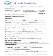 Vendor Application Form Template Charlotte Clergy Coalition