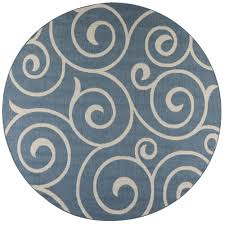 home decorators collection whirl blue champagne 9 ft x 9 ft round indoor