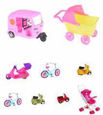Xe Ô Tô Đồ Chơi Nhựa Ô Tô Đồ Chơi Cho Búp Bê Barbie Nhà Búp Bê Thu Nhỏ Đồ  Nội Thất Nhựa Xe Đẩy Xe Đạp Phụ Kiện Xe Hơi|Búp Bê