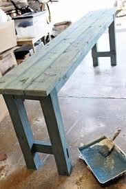 diy sofa table. How To Use Watered Down Milk Paint Get A Beachy Look On Newly Built DIY No-nails Console Table By Shabbyfufu Featured /Remodelaholic/ Diy Sofa