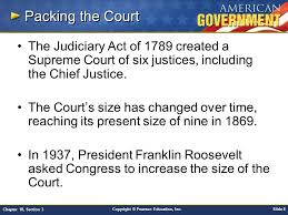 size of supreme court chapter 18 the federal court system section 3 ppt video online