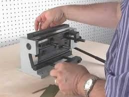sheet metal bending hand tools demonstration of micro mark 82820 mini metal shear brake youtube