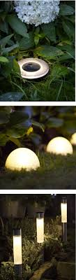 outdoor lighting ideas solar beautiful garden lights made from flower pots and old lamp globes with a