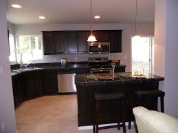 Dark Granite Kitchen Dark Kitchen Cabinets And Dark Countertops Quicuacom