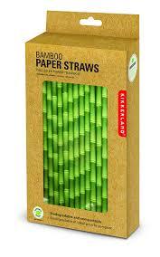 amazoncom kikkerland biodegradable paper straws bamboo box of