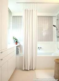 double shower curtain dual shower curtain rods curved shower curtain rod photo 6 of superb ceiling