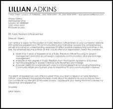 Public Relations Cover Letters Under Fontanacountryinn Com
