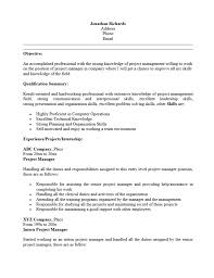 Entry Level Management Resume Examples Best Project Manager Resume Template Project Management
