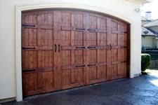 wood double garage door. Stained Wood Garage Door With Hardware Double O