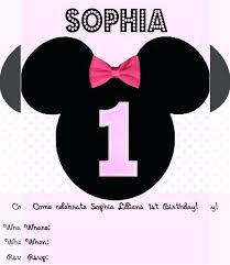 minnie mouse invitation template minnie mouse invitation template download invitation templates for
