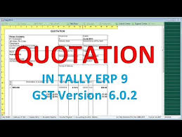 Quotation Proforma Format Quotation Proforma Invoice In Tally Erp9 6 0 2 New Release Gst