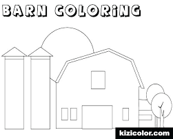 Barn Color Sheet Barn Coloring Pictures To Print Barn Coloring Pages