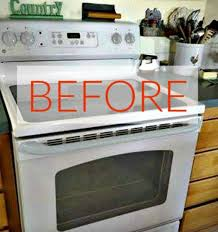 the secret is to use the right kind of aerosol paint here is what she used the rust oleum to paint some parts of her stove and the handle of her fridge