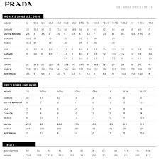 Hand Picked Wide Fitting Shoe Size Chart Prada Clothes Size