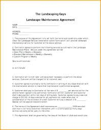 Maintenance Contract Template Word Download Agreement Sample Example ...