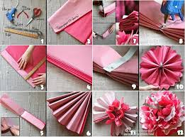 How To Make Flower From Tissue Paper Diy Beautiful Tissue Paper Flowers For Wedding