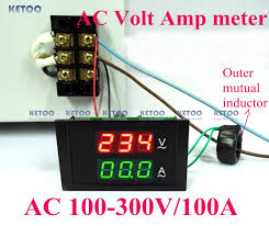 aliexpress com buy yb27va dc 0 100v 50a digital ammeter digital ac voltmeter ammeter ac 100 300v voltage meter current meter 2 in 1 panel meter voltmeter ammeter ac 0 100a