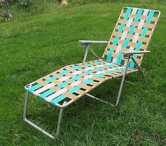 folding lawn lounge chairs. Unique Lawn Vintage Folding Lounge Lawn Chair Aluminum Webbing Patio Webbed Mid Century And Chairs L