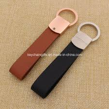 china custom metal leather keychain with laser engraved logo china keychain leather keychain
