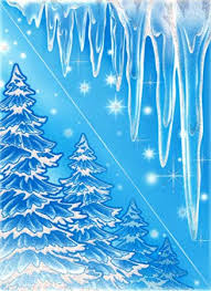 Dpr Fensterbild Set 2 Dreieckfolien Tannen Wald Eiszapfen