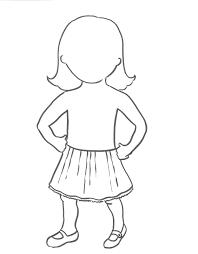 female body outline template outline of a girl template ivedi preceptiv co