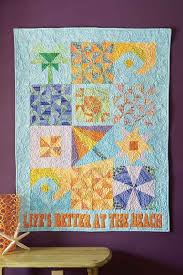 "FREE Quilt Pattern Friday! *Life's Better At The Beach* - Fons ... & Create eight different ""beachy"" quilt blocks using your favorite summer fat  quarters or scraps from your fabric stash! This is a wall quilt sampler  that all ... Adamdwight.com"