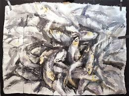 gloucester fish large scale watercolor when